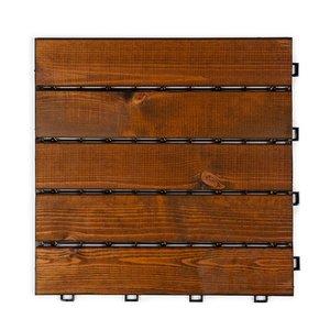 Harde PVC balkon tegels - wood - bruin- 30x30cm