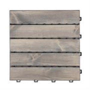 Harde PVC balkon tegels - wood - grijs- 30x30cm