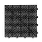 Harde PVC open kliktegel Berlijn - zwart - 30x30cm