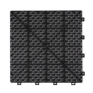Harde PVC open kliktegel Berlijn tegel - zwart - 30x30cm