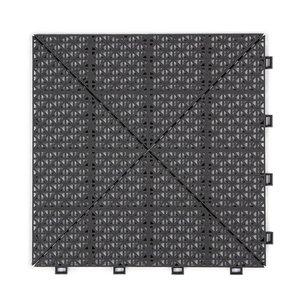 Harde PVC open kliktegel Berlijn tegel - grijs - 30x30cm