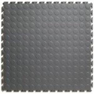PVC kliktegel | Motief: Noppen| HD |SALE | MIX van Kleur: Donkergrijs | Zwart |  Dikte 7mm