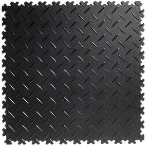 PVC kliktegel | Motief: Diamant | HD | SALE | MIX van Kleur: Donkergrijs | Zwart |  Dikte 7mm