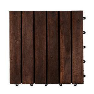 Harde PVC balkon tegels - Wood - Ontario- 30x30cm