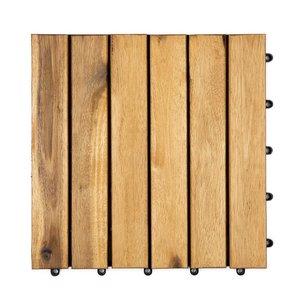 Harde PVC balkon tegels - Wood - Calgary- 30x30cm