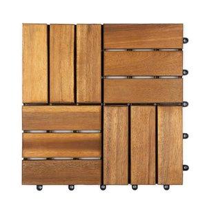Harde PVC balkon tegels - Wood - Montreal- 30x30cm
