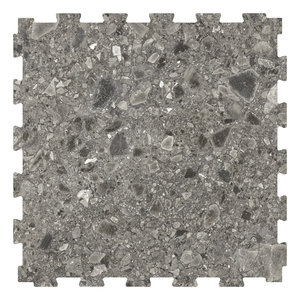 PVC kliktegel | Motief: City Design York | Kleur:  Donkergrijs|  Dikte 6.5mm