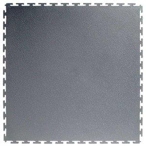 PVC kliktegel | Motief: Hamerslag (textured)| Kleur: Grijs | Dikte 4.5mm | Recycled