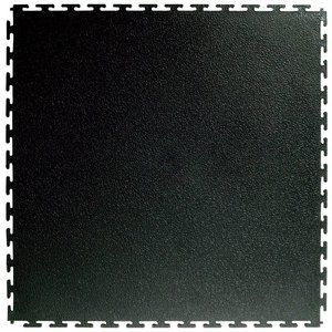 PVC kliktegel | Motief: Hamerslag (textured)| Kleur: Zwart | Dikte 4.5mm