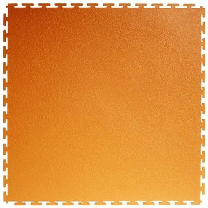 PVC kliktegel: Hamerslag - kleur: oranje 4.5mm
