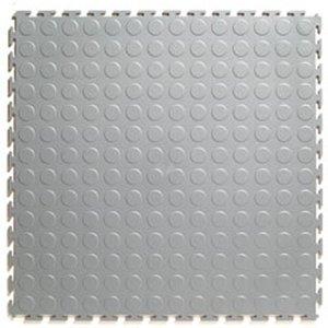 PVC kliktegel - motief: Noppen - kleur: Lichtgrijs - Dikte 4.5mm