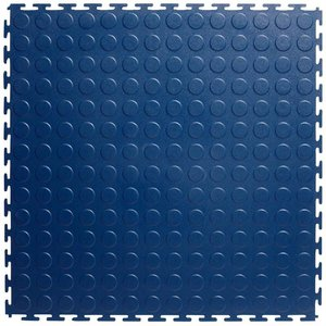 PVC kliktegel - motief: Noppen - kleur: Blauw - Dikte 4.5mm