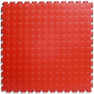 PVC kliktegel - motief: Noppen - kleur: Rood - Dikte 4.5mm