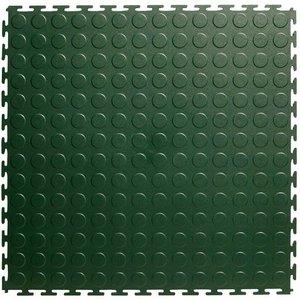 PVC kliktegel - motief: Noppen - kleur: Groen - Dikte 4.5mm