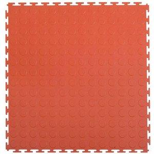 PVC kliktegel - motief: Noppen - kleur: Terracotta - Dikte 4.5mm