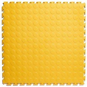 PVC kliktegel - motief: Noppen - kleur: Geel _ Dikte 4.5mm