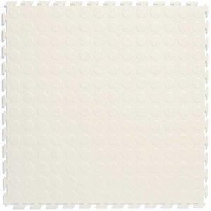 PVC kliktegel - motief: Noppen - kleur: Wit - Dikte 4.5mm
