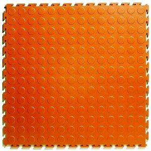 PVC kliktegel - motief: Noppen - kleur: Oranje - Dikte 4.5mm