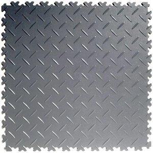 PVC kliktegel - motief: Diamant (tranenplaat) - kleur: Donkergrijs - Dikte 4mm