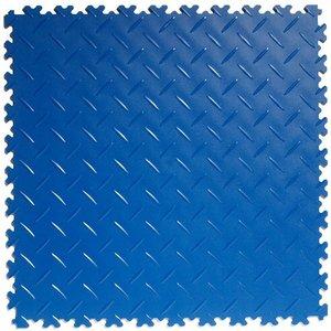 PVC kliktegel: diamant (tranenplaat) - kleur: blauw : dikte 4mm