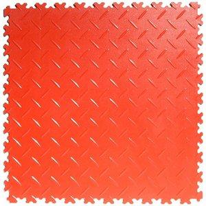 PVC kliktegel: diamant (tranenplaat) - kleur: rood : dikte 4mm