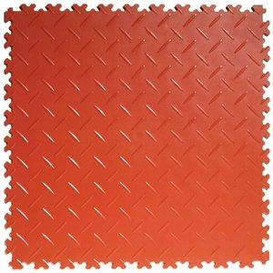 PVC kliktegel | Motief: Diamant (tranenplaat)| Kleur: Terracotta: Dikte 4mm