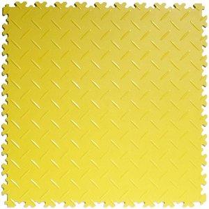 PVC kliktegel - motief: Diamant (tranenplaat) - kleur: Geel - Dikte 4mm