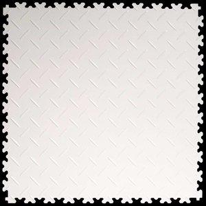 PVC kliktegel - motief: Diamant (tranenplaat) - kleur: Wit - Dikte 4mm