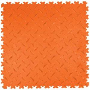PVC kliktegel - motief: Diamant (tranenplaat) - kleur: Oranje - Dikte 4mm