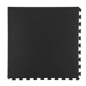 PVC kliktegel - motief: Hamerslag - kleur: Zwart-Recycled - verborgen verbinding