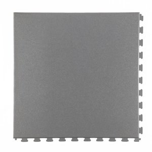 PVC kliktegel - Hamerslag - kleur: Grijs-Recycled - verborgen kliksysteem