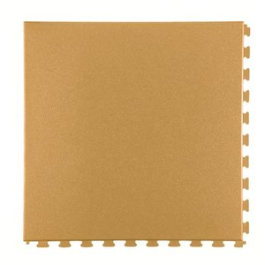 PVC kliktegel - motief: Hamerslag - kleur: Beige