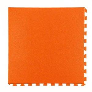 PVC kliktegel: hamerslag - kleur: oranje - 5mm