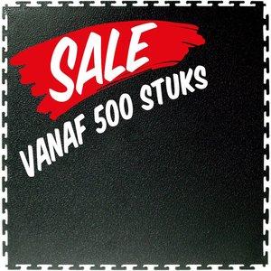 PVC kliktegel: hamerslag - kleur: zwart - recycled - vanaf 500 stuks