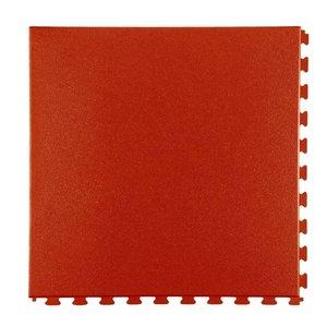 PVC kliktegel - motief: Hamerslag - kleur: Terracotta- dikte 5mm
