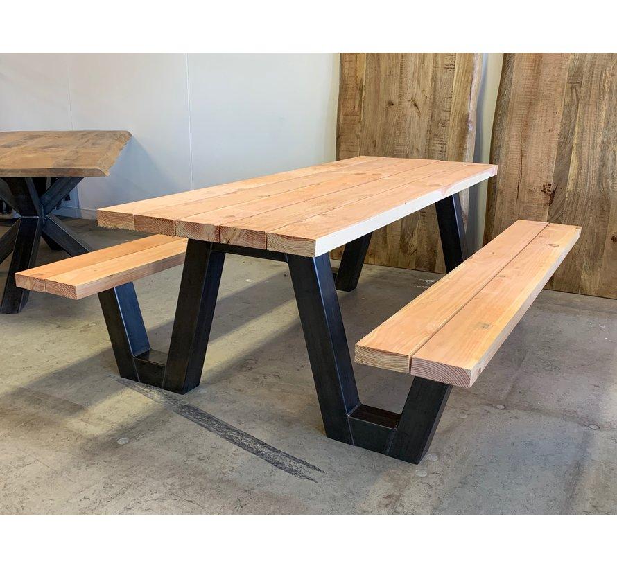 Picknicktafel A onderstel staal (per stuk)
