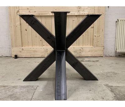 Doinq Dubbele kruispoot staal, voor ronde bladen  * Gratis thuis bezorgd!