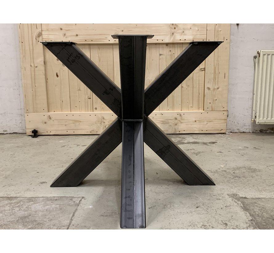 Dubbele kruispoot staal, voor ronde bladen  * Gratis thuis bezorgd!