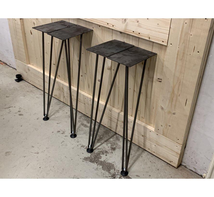 Twisted hairpin tafelpoten set van 4  *Gratis thuis bezorgd!