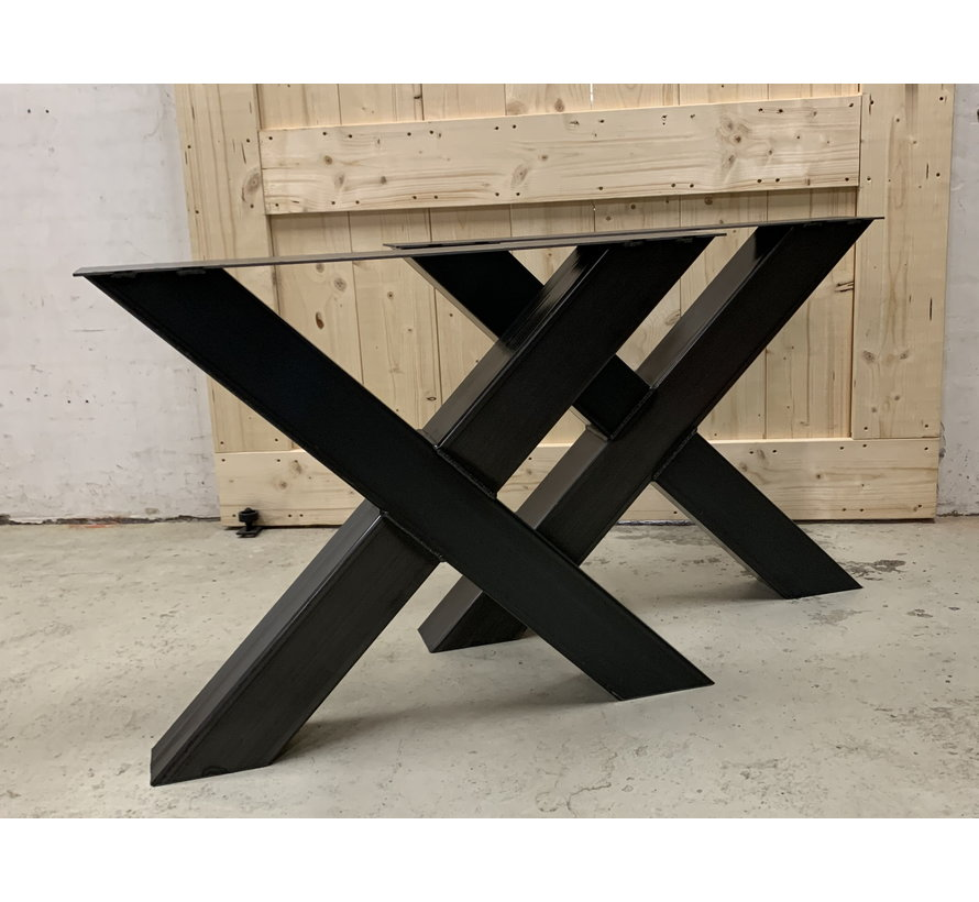 Robuuste X poten koker 12x12 cm (set van 2)