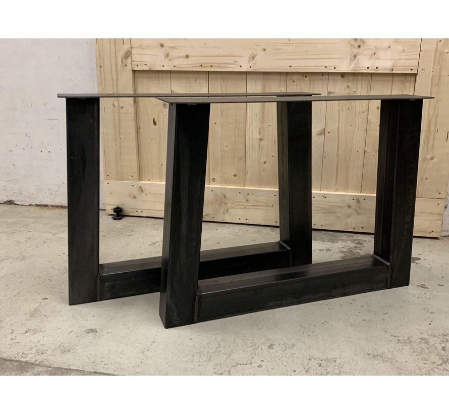 Trapezium onderstellen staal  (set van 2)
