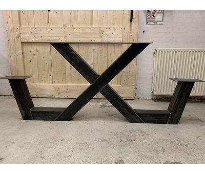 Doinq Picknick tafel X frame onderstel staal (per stuk)