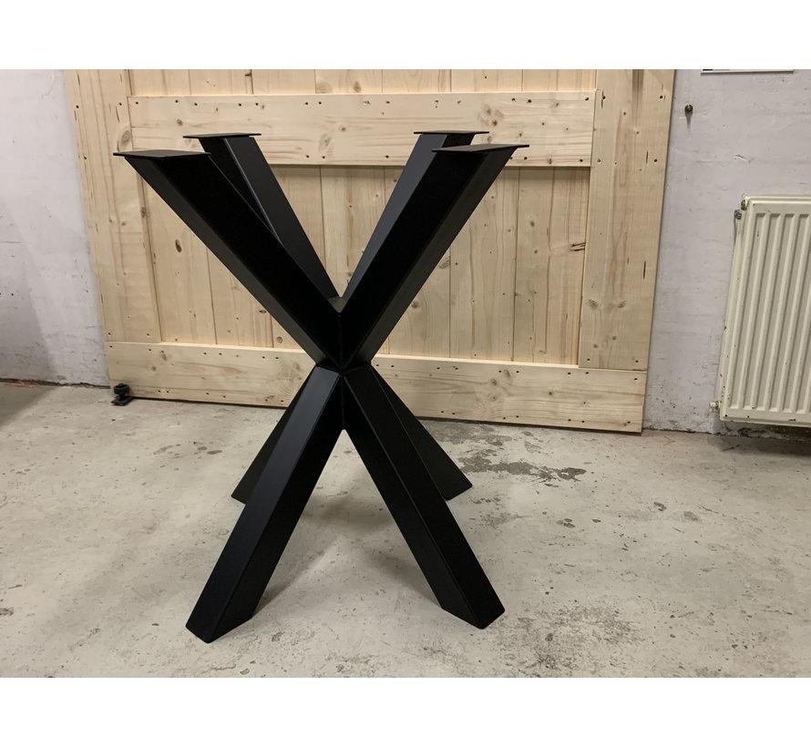 Bartafel onderstel staal Dubbele X   ** Gratis thuis bezorgt! **