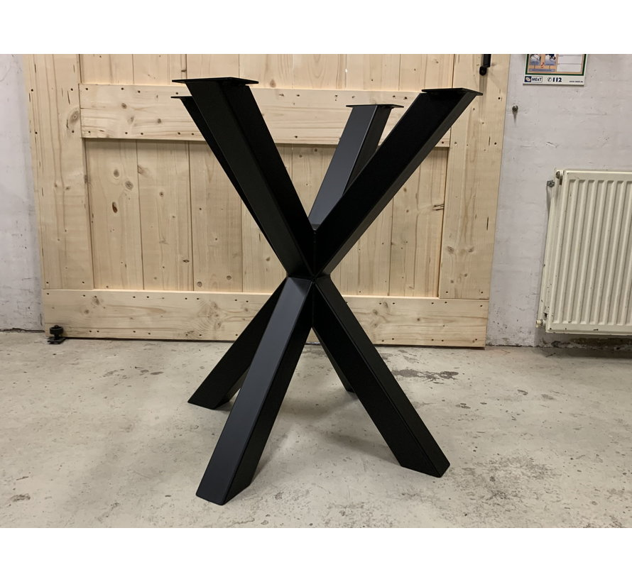 Bartafel onderstel staal Dubbele X