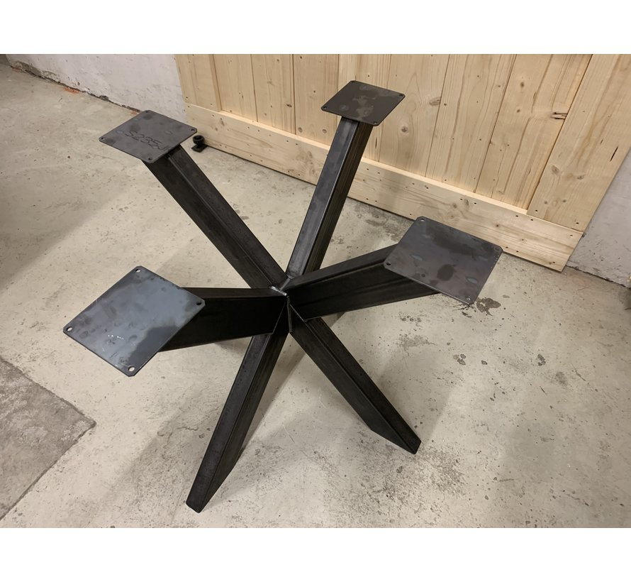 Dubbele kruispoot staal, voor ronde bladen