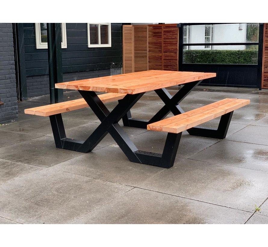 Picknick tafel X frame onderstel staal (per stuk)