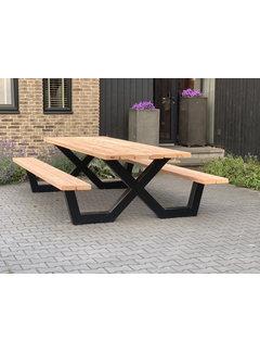 Doinq Picknicktafel met stalen X onderstellen