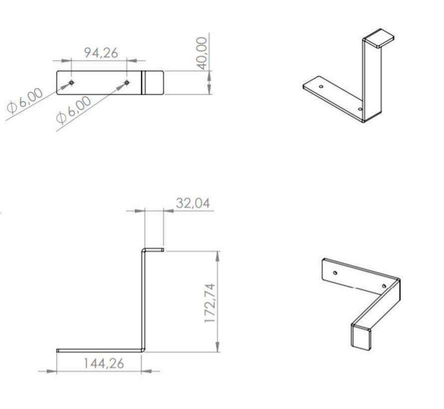 Plankdragers L model staal (set van 2)