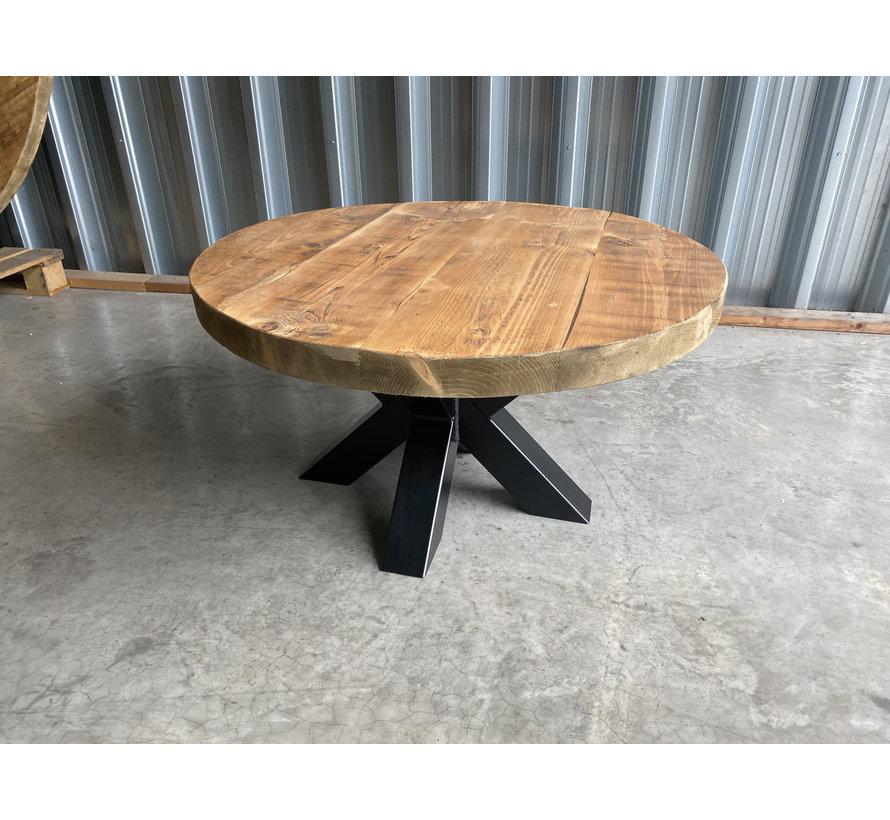 Ronde salontafel  gebruikt oud hout