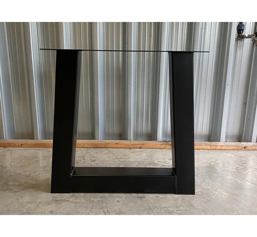 Trapezium onderstellen zwart gepoedercoat (set van 2)